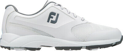 Footjoy Athletics Spikeless Golf Shoes White - Choose Size & Width
