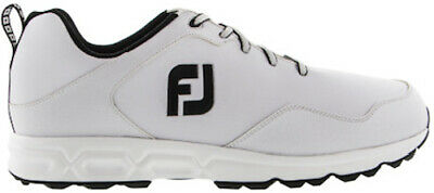 Footjoy Athletics Spikeless Golf Shoes White/Black - Choose Size & Width