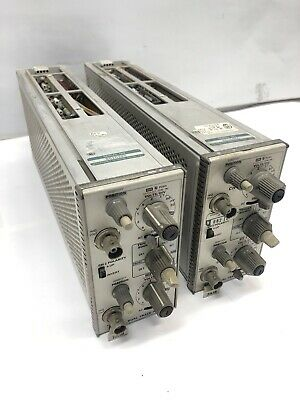 Tektronix 7A18N Plug-In - 200 MHz Dual-Trace Amplifier Lot of Two (2)