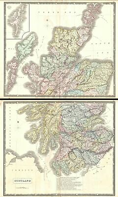 1860 Philip Map of Scotland (2 parts)