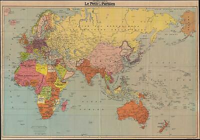 1939 Le Petit Parisien Map of the World during World War II