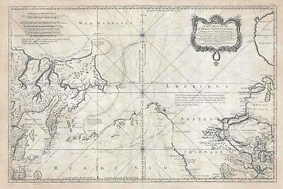 1766  Bellin Speculative Map of the Pacific Northwest (w/Muller Peninsula)