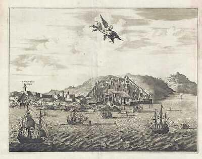 1686 Dapper View of Tangier, Morocco