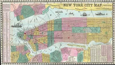 1857 Phelps City Map or Plan of New York City
