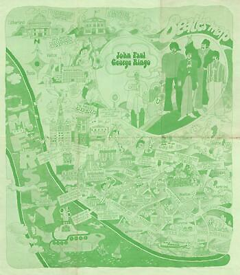 1974 City of Liverpool Beatles Pictorial Map of Liverpool