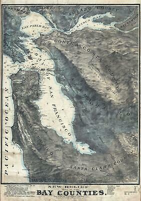 1905 Witaker and Ray Wall Pictorial Wall Map of the San Francisco Bay Area