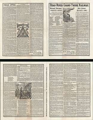 1869 Dear River Grand Trunk Railway Temperance Broadsheet