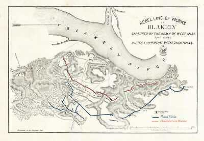 1865 Corps of Engineers Map of the Civil War Battle of Fort Blakely, Alabama