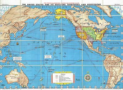 1936 Tryon Map of United States and its Overseas Possessions