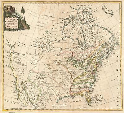 1770 Kitchin Map of North America