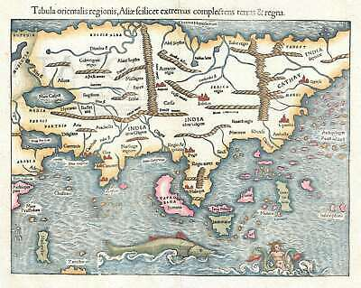 1550 Munster Map of Asia