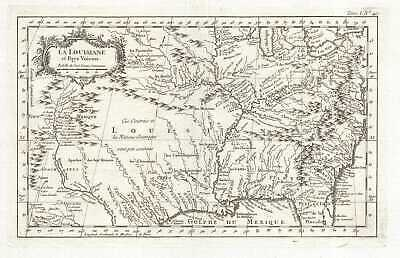 1764 Bellin Map of the French Louisiana