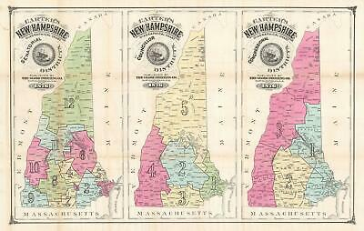 1876 Carter Map of New Hampshire Election Districts