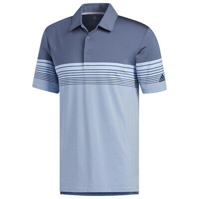 Adidas Ultimate365 Gradient Block Stripe Polo - Choose Size and Color