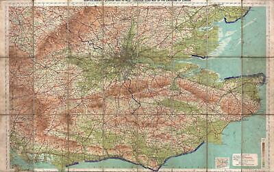 1928 Map of the Environs of London, England