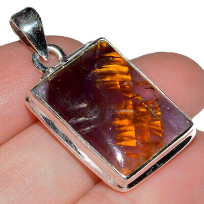 Brazil 925 Sterling Silver Pendant Jewelry AP64415 Cacoxenite