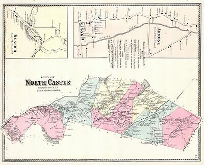 1867 Warner and Beers Map of North Castle and Armonk, Westchester, New York