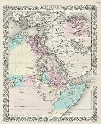 1856 Colton Map of Northeastern Africa