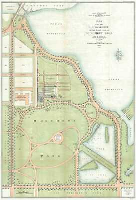1902 U.S. Army Engineers Map of Monument Park, National Mall, Washington D.C.