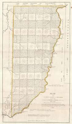 1796 Hutchins Map of Eastern Ohio: Seven Ranges of Townships
