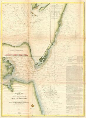 1855 U.S. Coast Survey Map of the Chesapeake Bay Entrance