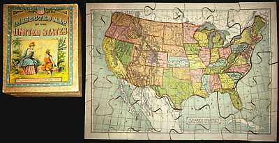 1889 McLoughlin Puzzle Map of the United States
