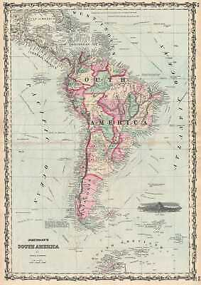 1861 Johnson Map of South America