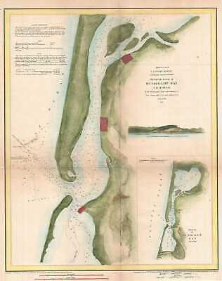 1851 U.S. Coast Survey Chart or Map of Humboldt Bay, California