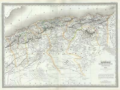 1860 Dufour Map of Algeria, Barbary Coast, Northern Africa