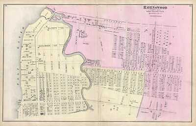 1873 Beers Map of Ravenswood (Long Island City), Queens, New York City