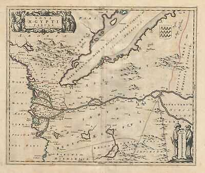 1721 De Wit Map of Northern Egypt