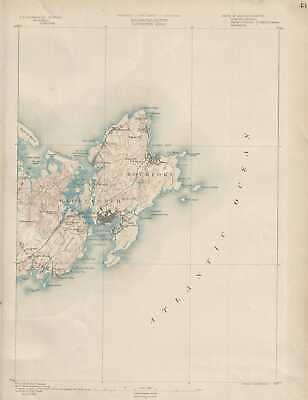 1890 U. S. Geological Survey Map of Gloucester and Rockport, Massachusetts