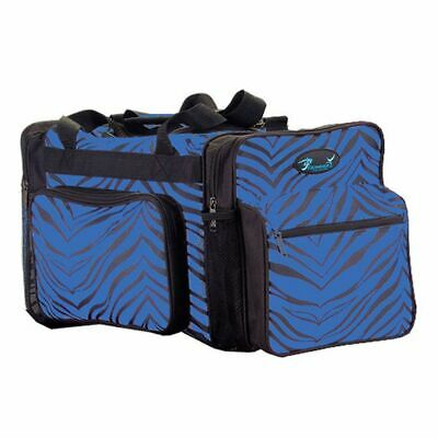 Pizzazz Royal Blue Zebra Print Girls Dance Sport Travel Bag
