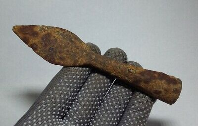 ANCIENT RARE 100% Authentic Viking period Iron SPEAR JAVELIN 9-10 century AD#078