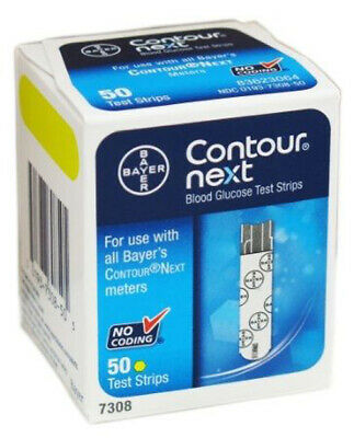 Bayer Contour Next Blood Glucose Test Strips 50 Pack  EXP: 2 / 2021
