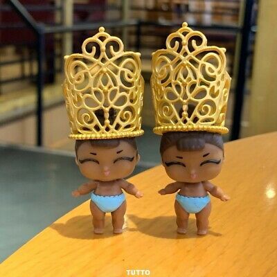 2 Dolls with crown LOL Surprise LiL Sisters L.O.L. MISS BABY glam CLUB   TOY GIF