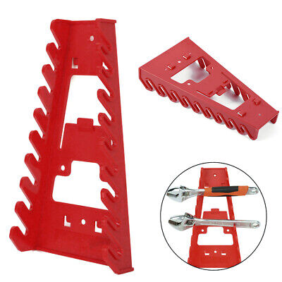 1X Plastic 9 Slot Wrench Holder Spanner Rack Organizer Tool Storage Wall Mounted