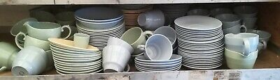 Huge job Lot of woods ware beryl jasmine and iris, jugs, bowls, plates, cups etc