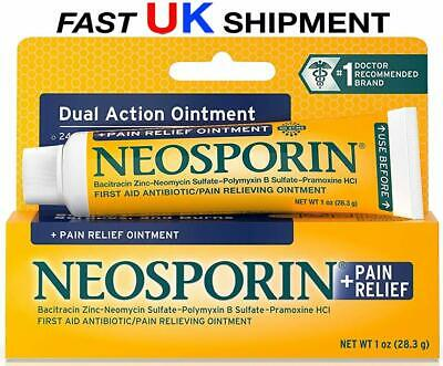 NEOSPORIN LARGE DUAL ACTION + PAIN RELIEF MAX STRENGTH 1.0 oz (28.3 g) FAST POST