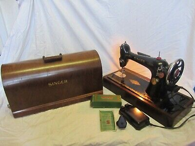 "Vintage Singer 66k Electric Sewing Machine ""Ex Con"""