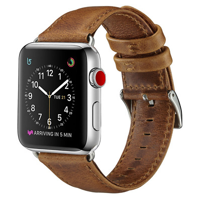 For Apple Watch Series 1 2 3 4 Genuine Leather Band 38mm 40mm 42mm 44mm Strap