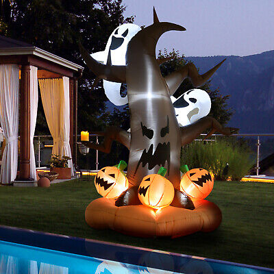 8' Lighted Inflatable Outdoor Halloween Yard Decoration - Haunted Ghost Tree