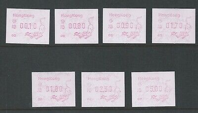Hong Kong 1992 HK ATM Labels, Year of the Monkey Code 02 Mint