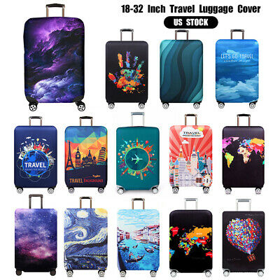 """US 18-32"""" Travel Luggage Case Cover Elastic Anti-Scratch Suitcase Dust Protector"""