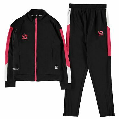 Sondico Strike Tracksuit Infants Girls Full Length Sleeve Zip Zipped Drawstring
