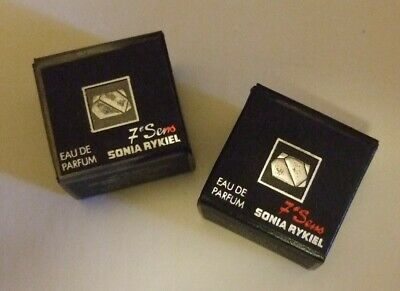 Sonia Rykiel Miniature Perfume Bottle In Box 2 Perfume Bottles 7 Sens Authentic