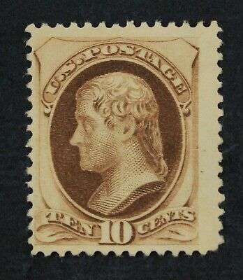 CKStamps: US Stamps Collection Scott#188 10c Jefferson Unused NG Tiny Thin