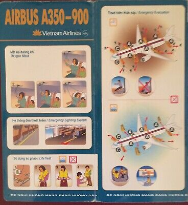 VIETNAM AIRLINES  Safety Card VERY RARE / Airbus A 330-900 NEO