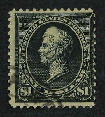 CKStamps: US Stamps Collection Scott#276 $1 Used Tiny Thin CV$100