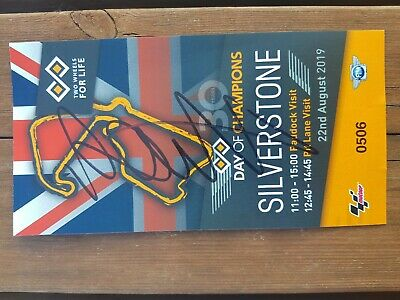 Valentino Rossi signed Day Of Champions Moto Gp Paddock Pass,silverstone *proof*
